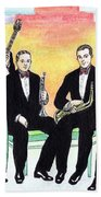 1927 New Yorkers Jazz Band Beach Towel