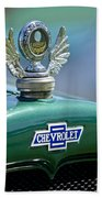 1928 Chevrolet Stake Bed Pickup Hood Ornament Beach Towel