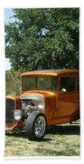 1929 Ford Butter Scorch Orange Beach Towel by Jack Pumphrey