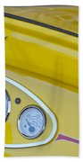 1929 Ford Model A Roadster Dashboard Instruments Beach Towel