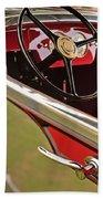 1929 Graham-paige Model 837 Lebaron Sport Phaeton Steering Wheel Beach Towel