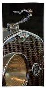 1929 Lasalle Hood Ornament Beach Towel