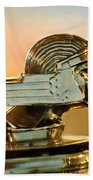 1929 Stutz Series M Four-passenger Dual-cowl Speedster Hood Ornament  Beach Towel