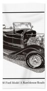 1930 Ford Model A Roadster Beach Towel