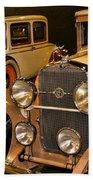 1931 La Salle Series 345r And 1929 Packard Roadster Beach Towel