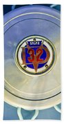 1931 Stutz Dv-32 Convertible Sedan Wheel Emblem Beach Towel