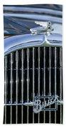 1932 Buick Series 60 Phaeton Grille Beach Towel