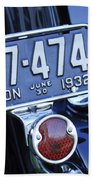 1932 Ford Model 18 Roadster Hotrod Taillight Beach Towel