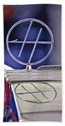 1932 Hupmobile Custom Roadster Hood Ornament Beach Towel