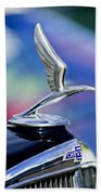 1933 Chevrolet Master Six Eagle Sedan Hood Ornament Beach Towel