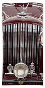 1934 Bentley 3.5-litre Drophead Coupe Grille Beach Towel