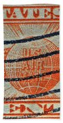 1934 U. S. Air Mail Dull Orange Stamp Beach Towel