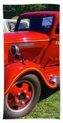 1935 Dodge Firetruck Beach Towel