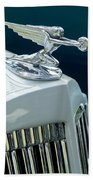 1935 Packard Sedan Hood Ornament Beach Towel