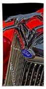 1936 Ford Model 48 Emblem Beach Towel