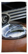 1936 Gmc Pickup Truck Hood Ornament Beach Towel