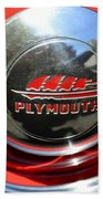 1937 Plymouth Hubcap Beach Towel