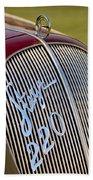 1938 Steyr 220 Glaser Roadster Grille Emblem Beach Towel