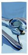 1946 Dodge Ram Hood Ornament Beach Towel