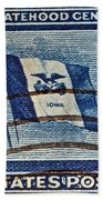 1946 Iowa Statehood Stamp Beach Towel
