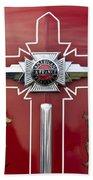1948 American Lefrance Fire Truck Emblem Beach Towel