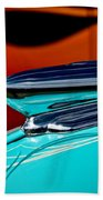 1948 Chevy Hood Ornament Beach Towel