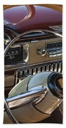 1949 Cadillac Sedanette Steering Wheel Beach Towel