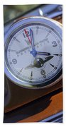 1950 Oldsmobile 88 Dashboard Clock Beach Towel