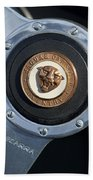 1951 Jaguar Steering Wheel Emblem Beach Towel