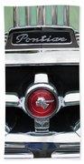 1951 Pontiac Streamliner Grille Emblem Beach Towel