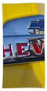 1952 Chevrolet Hood Emblem Beach Towel