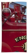 1952 L Model Mack Pumper Fire Truck 2 Beach Towel