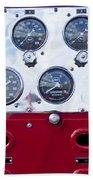 1952 L Model Mack Pumper Fire Truck Controls Beach Towel