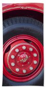 1952 L Model Mack Pumper Fire Truck Wheel 2 Beach Towel