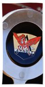 1953 Arnolt Mg Steering Wheel Emblem Beach Towel