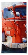 1954 American Lafrance Classic Fire Engine Truck Beach Towel by Kathy Clark