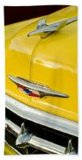 1954 Chevrolet Hood Ornament 4 Beach Towel