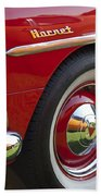 1954 Hudson Hornet Wheel And Emblem Beach Towel
