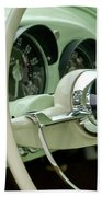 1954 Kaiser Darrin Steering Wheel Beach Towel