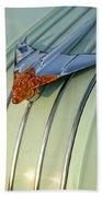 1954 Pontiac Chieftain Hood Ornament Beach Towel