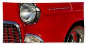 1955 Chevrolet 210 Headlight Beach Towel