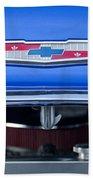 1955 Chevrolet Belair Hood Emblem 4 Beach Towel