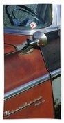 1955 Chrysler Windsor Deluxe Emblem Beach Towel