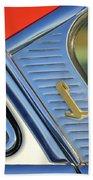 1955 Lincoln Capri Emblem Beach Towel