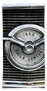 1956 Buick Century Grill Emblem Beach Towel