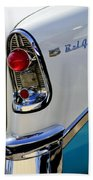 1956 Chevrolet Belair Taillight Emblem Beach Towel