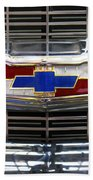 1956 Chevrolet Grill Emblem Beach Towel