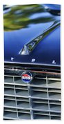 1957 Chrysler 300c Grille Emblem Beach Towel