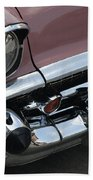 1957 Coral Chevy Bel Air Beach Towel