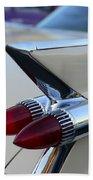 1958 Cadillac Tail Lights Beach Towel